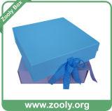 Caixa Foldable do Keepsake do papel do cartão do azul de bebê/cor-de-rosa de bebê
