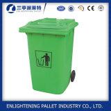 Scomparto di immondizia di plastica di uso esterno e della caratteristica ecologica a ruote