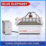 Ranurador multi del CNC del eje del eje de rotación 4 de la venta caliente con rotatorio