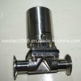Soupape à diaphragme manuelle sanitaire du fond de réservoir d'acier inoxydable