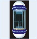 Ascenseur panoramique guidé avec la cabine en verre