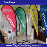 革は風の抵抗力があるフルカラーの印刷の涙浜の旗を保護する