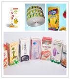 Rectángulo de papel laminado para el empaquetado de leche