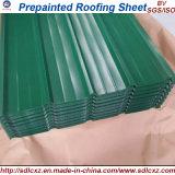 (0.16mm-1.2m m) Hoja de acero acanalada galvanizada cubierta color del material para techos