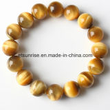 Pulsera moldeada de la piedra preciosa de la manera del tigre del cristal natural Amethyst semi precioso del ojo