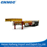 3車軸SkeletalかFlatbed Transport Container Semi Trailer
