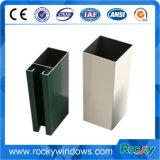 Perfil de aluminio anodizada y del polvo rocoso de la capa para la puerta deslizante