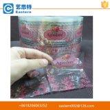 Escrituras de la etiqueta impermeables de encargo de la botella del jugo