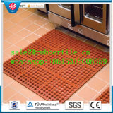 Anti-Fatigue連結の多孔性の台所ホテルのゴム製床のマット