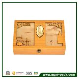 Boîte à thé en bois sculptée spécialisée personnalisée