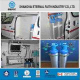 17e Thread Valve Small Portable Medical Oxygen Aluminum Gas Cylinder