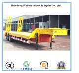 2 Fuwa Wellen-niedriger flaches Bett-LKW-halb Schlussteil 40 Tonnen