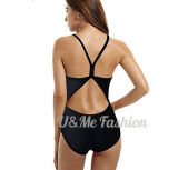 Повязка Monokini наспинных обхватов женщин сексуальная черная атлетическая тонкая перекрестная