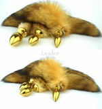 Fox Tail Gold Anal Plug di 30*28mm Small Size