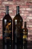 750ml de antieke Groene Flessen van de Wijn met de Druk van het Scherm