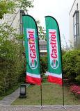 Bandeira de praia inteira da impressão do Sublimation da tintura, bandeira Cusotm ao ar livre da pena