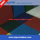 Azulejos de goma/azulejos de goma del dispositivo de seguridad/azulejos de goma resistentes del patio