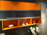 Armadio da cucina lineare personalizzato mobilia popolare della lacca
