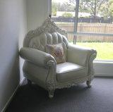 Sofà reale del cuoio di stile per la mobilia del salone (B015)