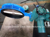 Válvula de borboleta Ductile da bolacha do ferro com atuador elétrico
