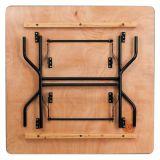 Verkauf 60 X60X 30 Zoll-Quadrat-Gestell-Furnierholz-Falz-Bankett-Lebesmittelanschaffung-Tisch
