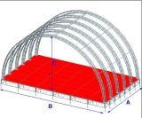 コンサートの段階の屋根のトラス、曲げられた屋根のトラス(TP03-9)