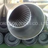 Intelaiature continue del filtro per pozzi del Johnson dell'acciaio inossidabile della scanalatura