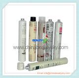 Câmara de ar dobrável de alumínio vazia do creme da mão da cor do cabelo do cuidado de pele da embalagem cosmética