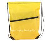 sac à dos en nylon coloré de sac de cordon 210d avec l'impression faite sur commande
