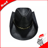 Черный бумажный шлем шлема ковбоя сторновки Unisex