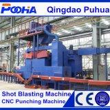 Macchina di granigliatura di pulizia della superficie del tubo d'acciaio del trasportatore a rulli