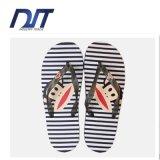 漫画OEMの印刷を用いる平らな底を付けられた浜の靴