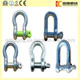 中国の工場供給の索具のハードウェアの高品質Dの形の弓手錠