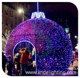 Decoratie van de openlucht LEIDENE de Lichte Bal van Kerstmis