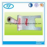 Sacs durables en plastique colorés de T-shirt de HDPE pour des achats