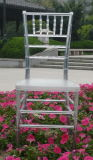 Restaurante Chairs Used para Banquet Clear Resin Chiavari Chair com Cushion