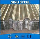 Cubrir la hoja acanalada de acero galvanizada del material para techos para la construcción