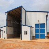 El almacén prefabricado de la estructura de acero de Angola vertió con el espacio grande