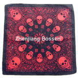 OEM Produce Customized Design Logo Skull imprimé en coton Headwear Bandana