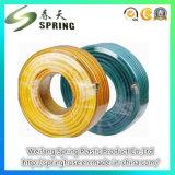 黄色いプラスチックPVCファイバーによって編まれる補強された高圧スプレーのエア・ホース8.5mm