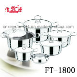 3PCS Stainless Steel Induction Cook Pot Set (FT-1709)
