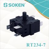 Переключатель 4 положений вращающийся для подогревателя (RT234-7)