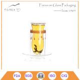 Tazze di vetro su ordinazione doppie per caffè