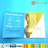 Custom Scratched PVC Membership cadeau en plastique Cartes avec gaine de carte