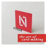 Cartão plástico impresso do presente do PVC Cr80 de Cmyk offset feito sob encomenda com impressão do código de barras