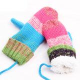 Reeks van de Sjaal van de Hoed van de Dekking van de Tik van de Handschoenen van de Sjaal POM Beanie van de Draai POM van de Kabel van de Winter van de Meisjes van de Jongens van de Kinderen van de Baby van jonge geitjes de Unisex-3PC Lange (SK405S)