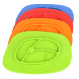 BPA Vrij Ovaal Silicone Placemat voor Baby