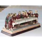 Ceia religiosa do último do Figurine da resina feita sob encomenda decorativa para a venda