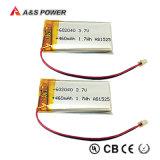 Lithium-Plastik-Batterie Li-Polymer-Plastik Lipo UL-602040 nachladbares 3.7V 460mAh