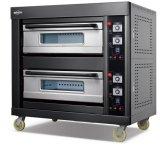 De nieuwe Oven van het Gas van de Stijl met de Zwarte Reeks van het Roestvrij staal van het Titanium Gouden in 2017 voor Zaken (wfc-206DHT)